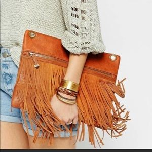 ASOS New Look Fringe Clutch